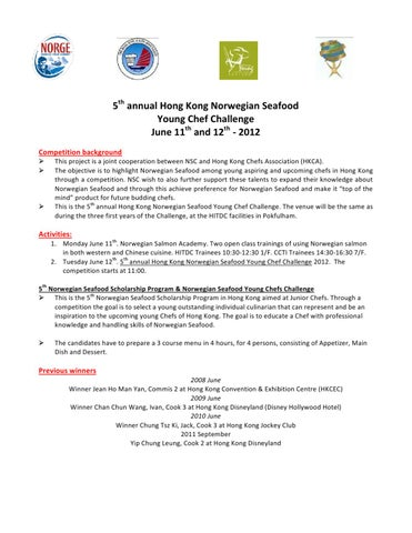 Invitation letter to 5th annual norwegian seafood young chef 5th annual hong kong norwegian seafood young chef challenge june 11th and 12th 2012 competition background stopboris Choice Image