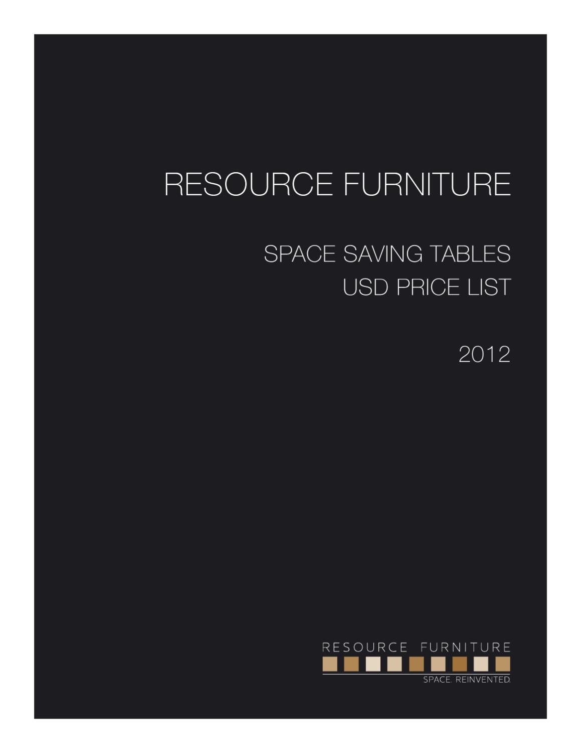 E Saving Tables Pricelist 27242 By Resource Furniture Issuu