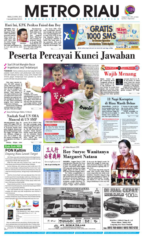 Metroriau 25 04 2012 By Harian Pagi Metro Riau Issuu Tcash Kartini Steam Wallet Sea 10
