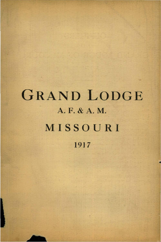 1c9500478030d 1917 Proceedings - Grand Lodge of Missouri