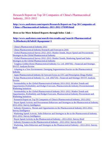MarketAark : || 2011-2012 Top 50 Companies Pharmaceutical