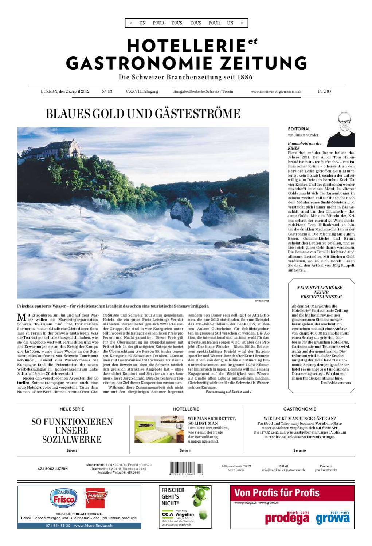 HetG-Zeitung 13/2012 by Hotellerie_Gastronomie_Verlag - issuu