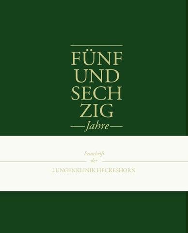 Festschrift Lungenklinik Heckeshorn by Bureau Reinweiss - issuu