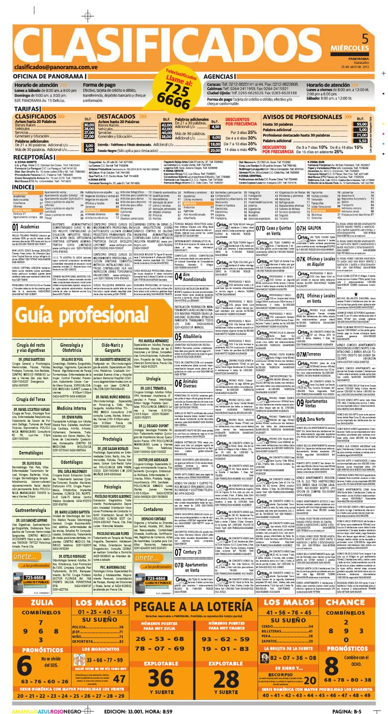Clasificados 25 de abril de 2012 by Diario Panorama - issuu