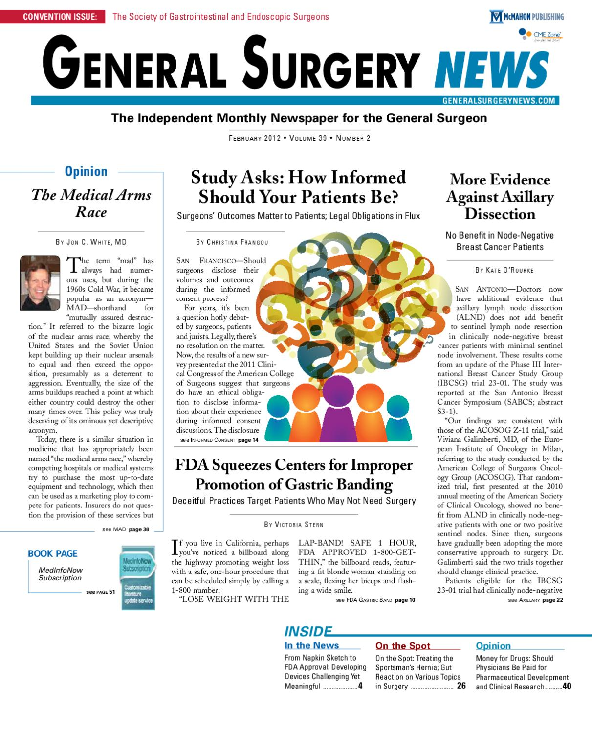 715c03f2c5b The February 2012 Digital Edition of General Surgery News by McMahon ...