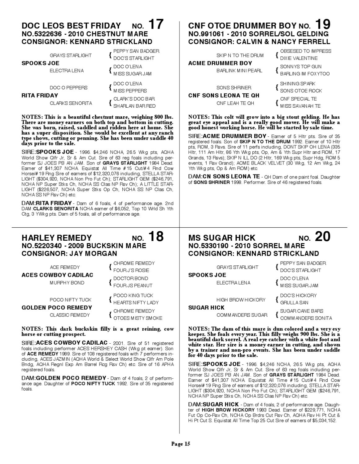Triangle 33rd Annual Spring Consign Sale by Triangle Horse Sales - issuu