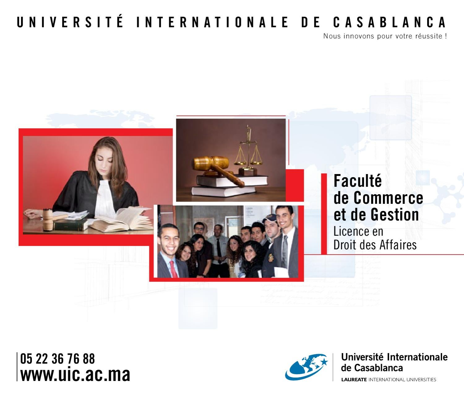 Licence Droit Des Affaires By Université Internationale De
