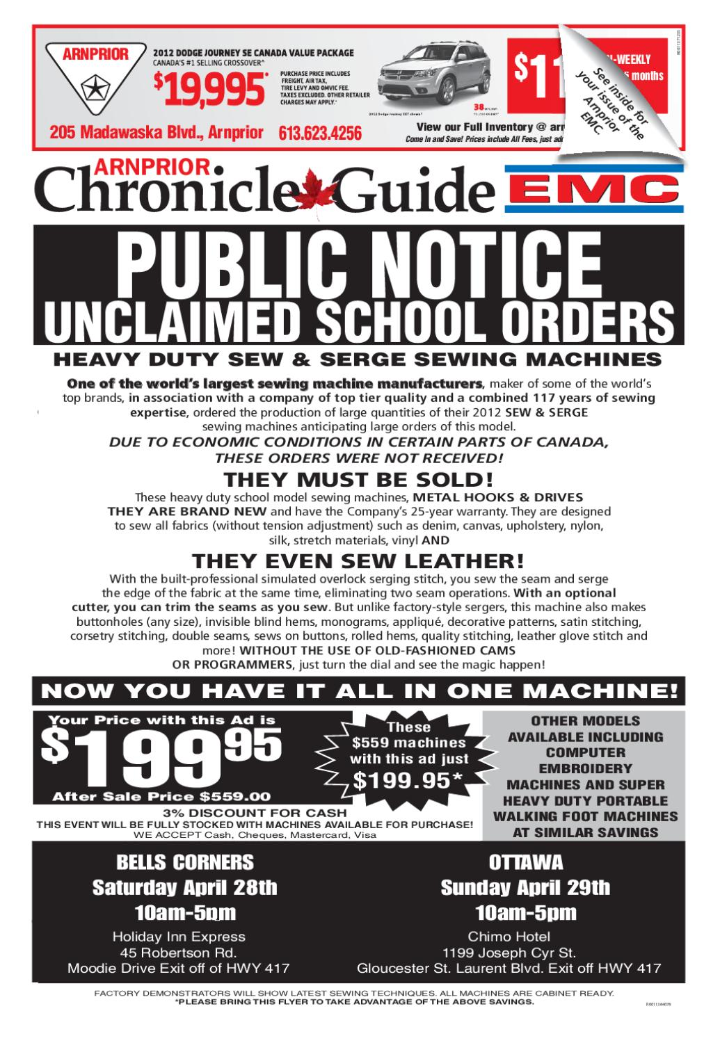 3123bae0bd5d Arnprior Chronicle Guide EMC by Metroland East - Arnprior Chronicle-Guide -  issuu