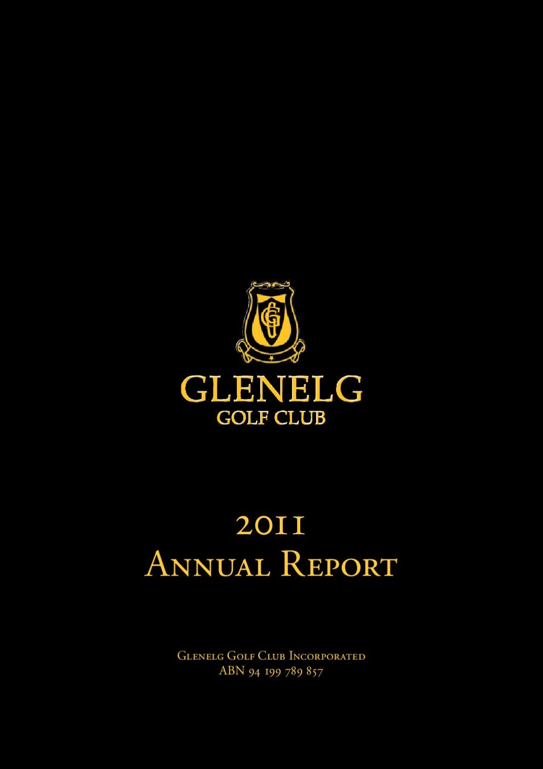 2011 annual report by glenelg golf club issuu. Black Bedroom Furniture Sets. Home Design Ideas