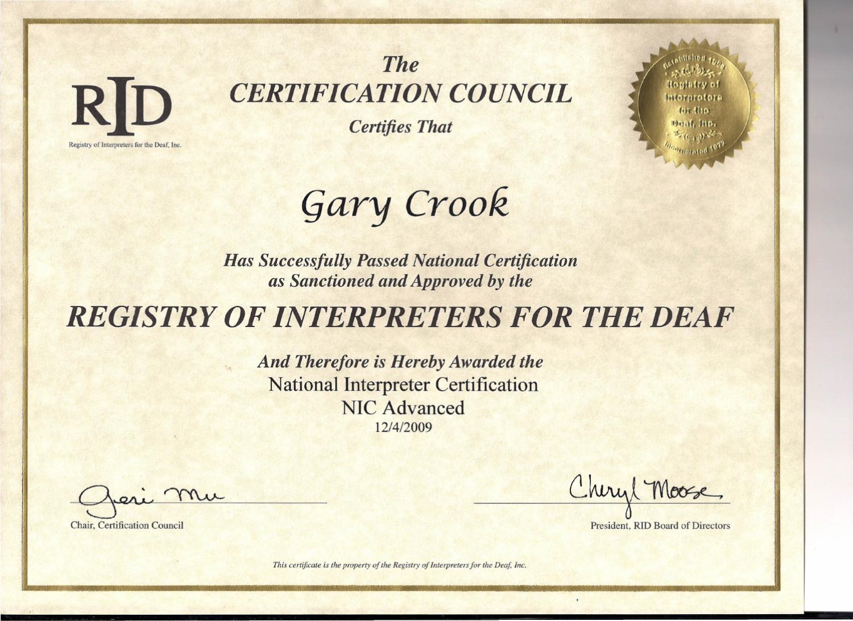 Rid Cert By Gary Crook Issuu