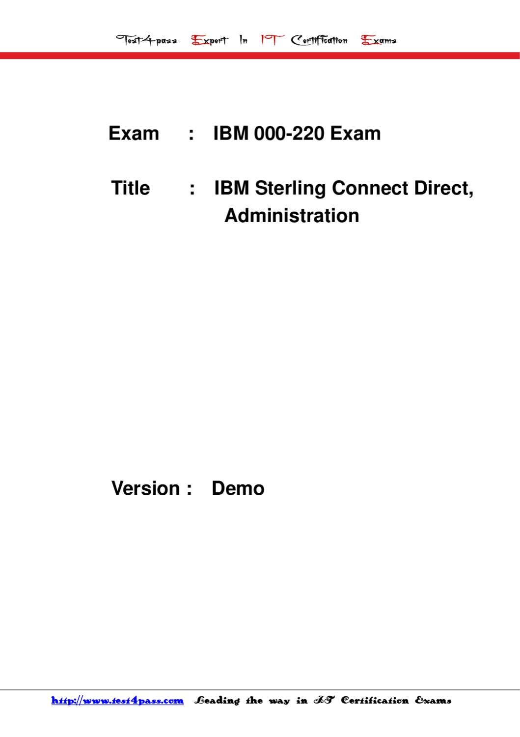 test4pass ibm test 000-220 exam dumps study guide by Tonic Jackie - issuu
