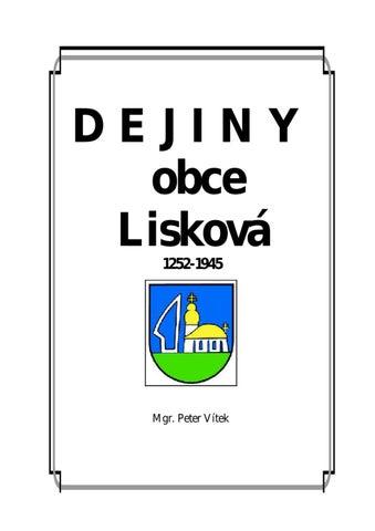 945d86265 Dejiny obce Liskova by Lubos Liskovcan - issuu