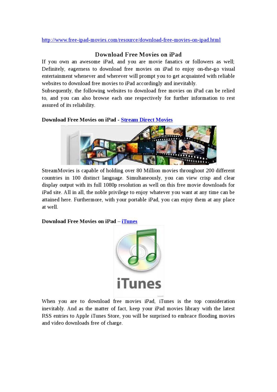 Download Free Movies on iPad by lee Jane - issuu