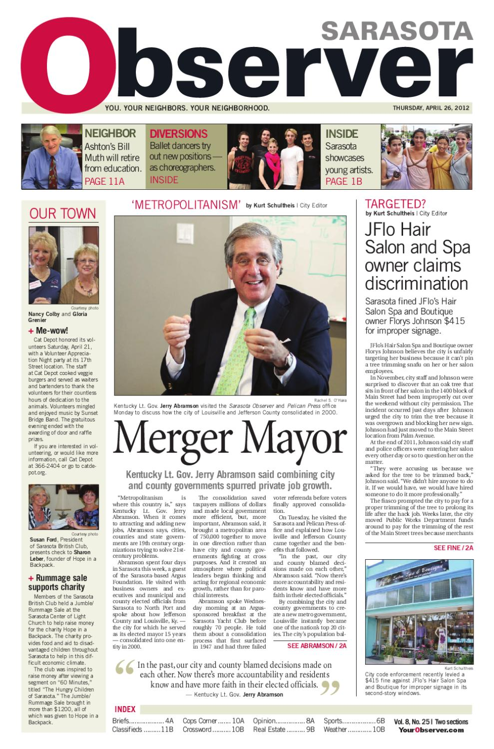 Sarasota Observer 04.26.12 by The Observer Group Inc. - issuu d5cf22ac2
