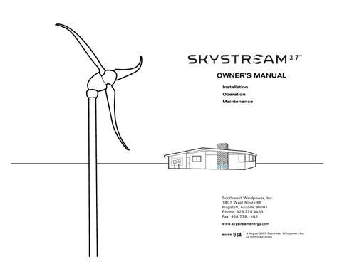 Skystream 3 7 Manual by Energia Pura - issuu