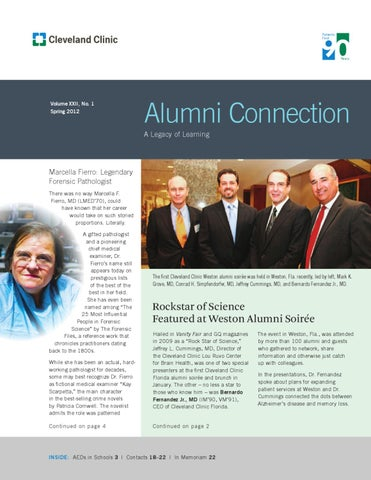 Cleveland Clinic Alumni Connection - Spring 2012 by
