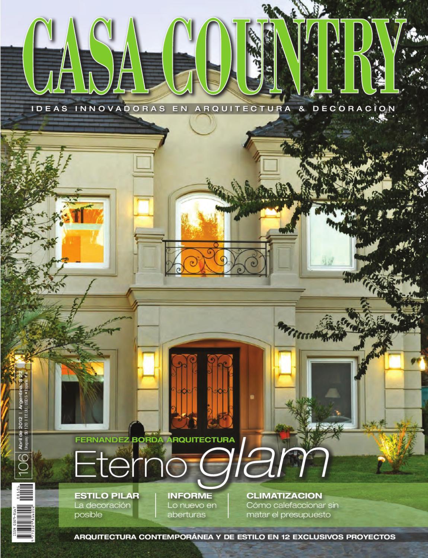 Casa clasica de tejas negras for Casa clasica country