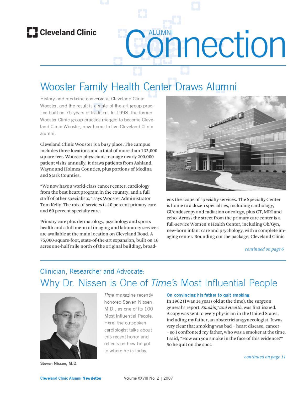 Cleveland Clinic Alumni Connection - Vol  XXVIII No  2