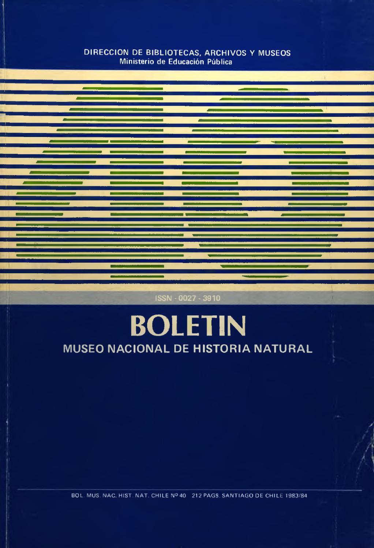 Tomo 40 by Museo Nacional de Historia Natural - issuu