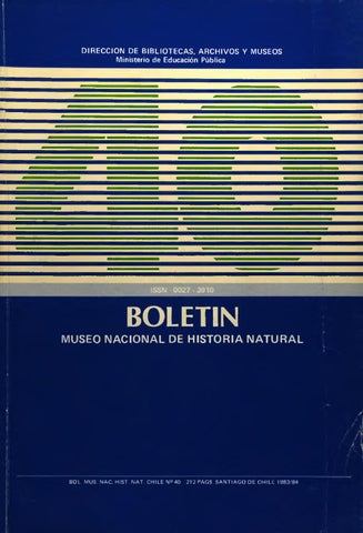 Tomo 40 by Museo Nacional de Historia Natural - issuu