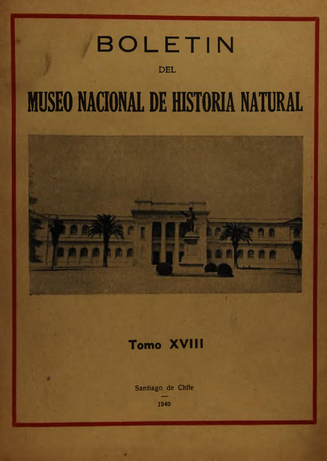 Tomo 18 by Museo Nacional de Historia Natural - issuu