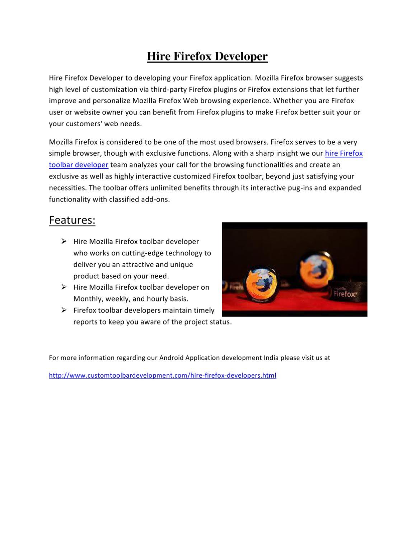 Firefox plugin Development by leon victor - issuu