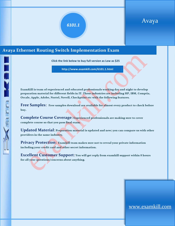 Avaya Ethernet Routing Switch Implementation Exam by HowardP