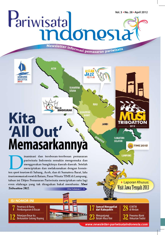 Newsletter Pariwisata Indonesia, Edisi 28 - April 2012 by