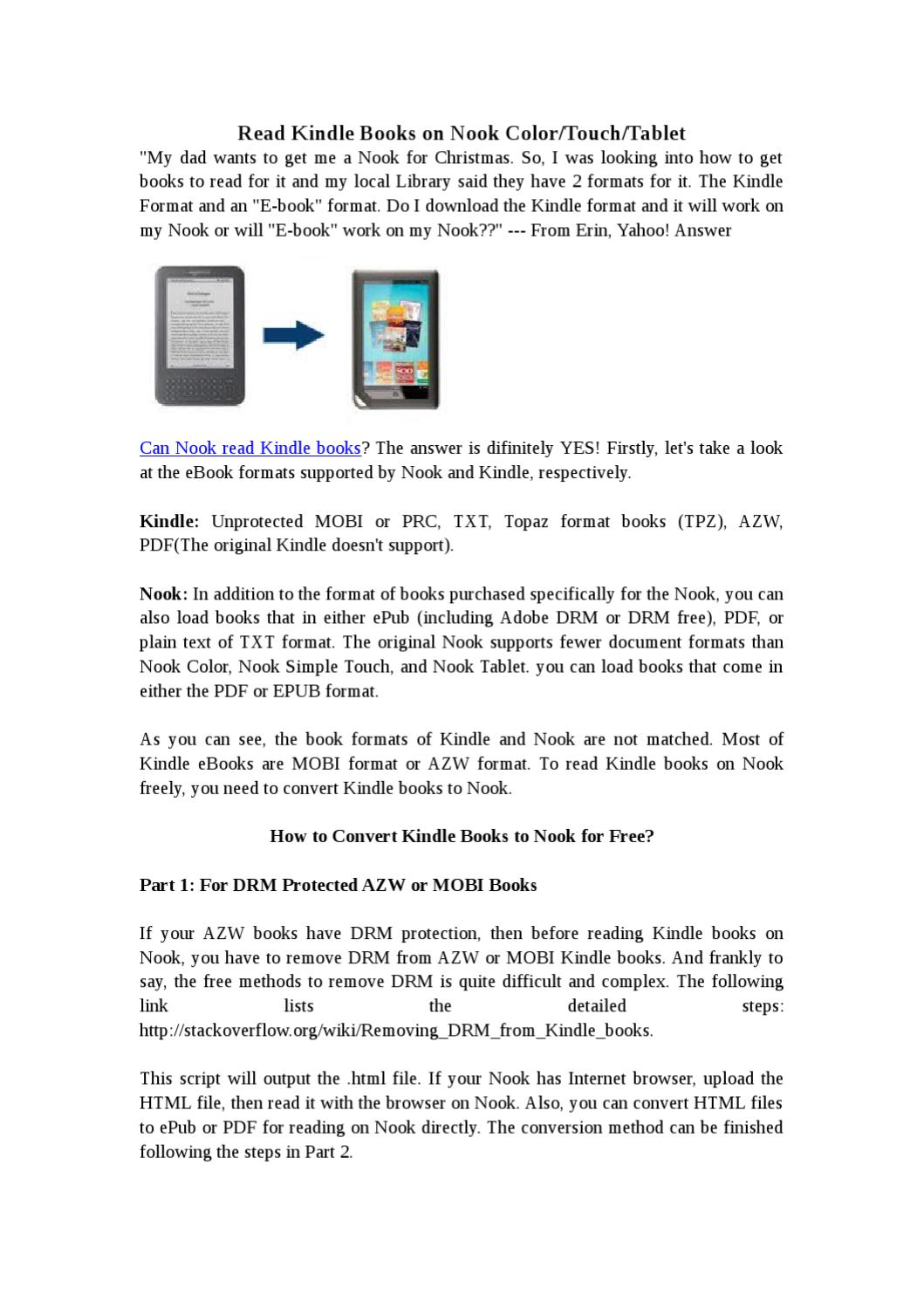 How to Read Kindle Books on Nook by lee Jane - issuu