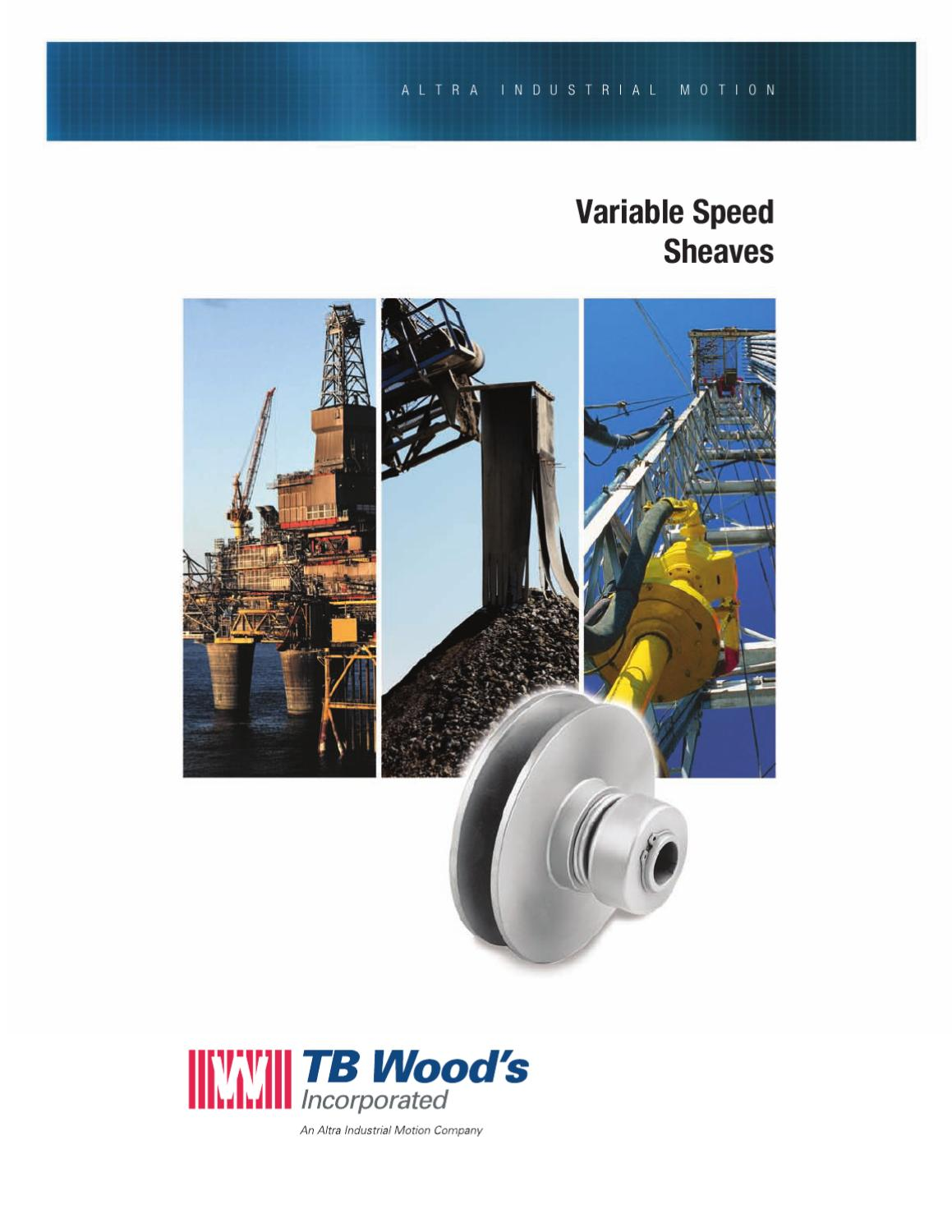 """TB WOODS VC51 5//8/"""" BORE VARIABLE SPEED SHEAVE NEW"""
