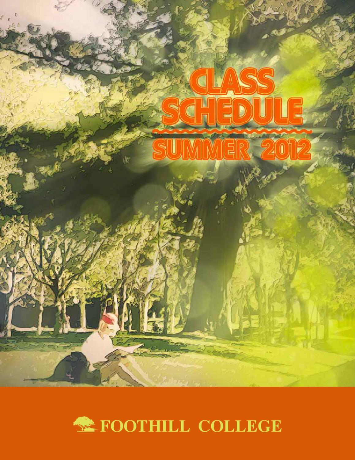 Summer Schedule 2012 By Foothill College Issuu Free Tree Diagram Generator 10159 Download