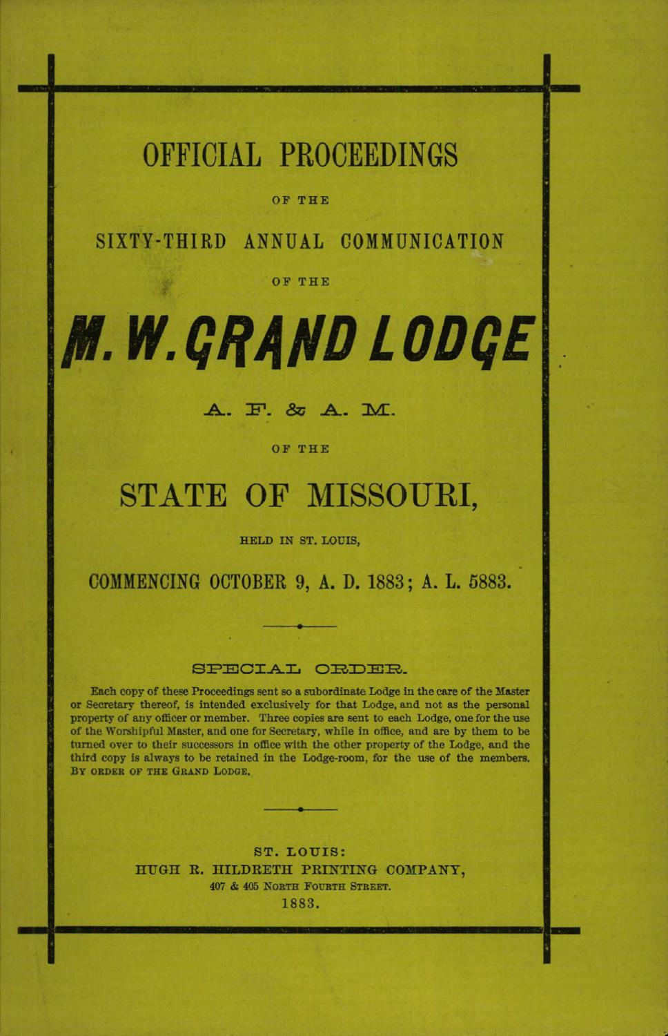 1883 Proceedings Grand Lodge Of Missouri By Freemasons Displaying 16gt Images For Current Electricity Kids Issuu