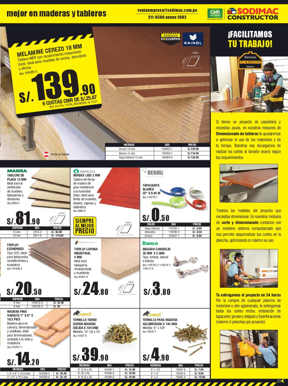 Catalogo sodimac constructor mayo by sodimacperu issuu for Precio de puertas levadizas en lima peru