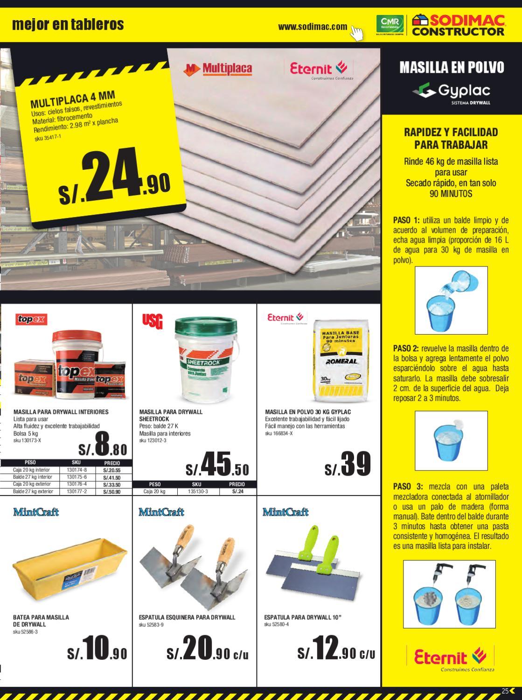 Catalogo sodimac constructor mayo by sodimacperu issuu Sodimac sanitarios precios