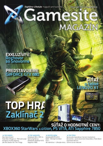 7200eaed9 Gamesite Magazín #004 by Generation magazine - issuu