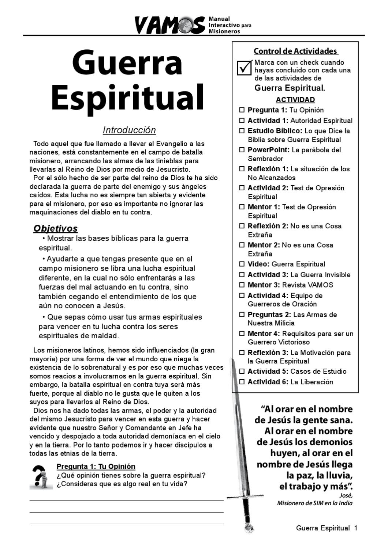 Guerra Espiritual By Sim Latinoamérica Issuu