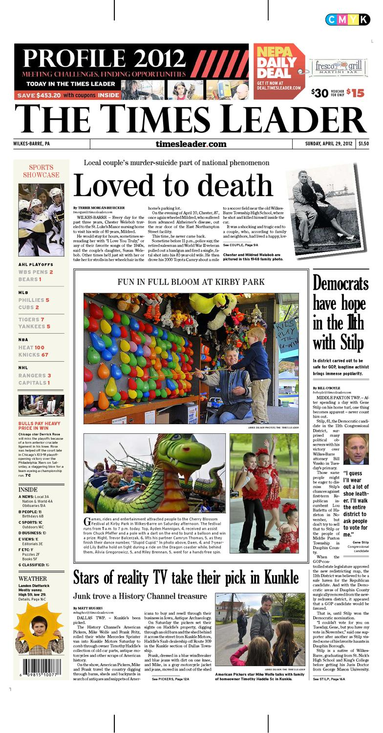 Times Leader 04 29 2012 By The Wilkes Barre Publishing Pany Issuu