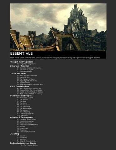 Skyrim Essentials By Matyazh Deniz Issuu