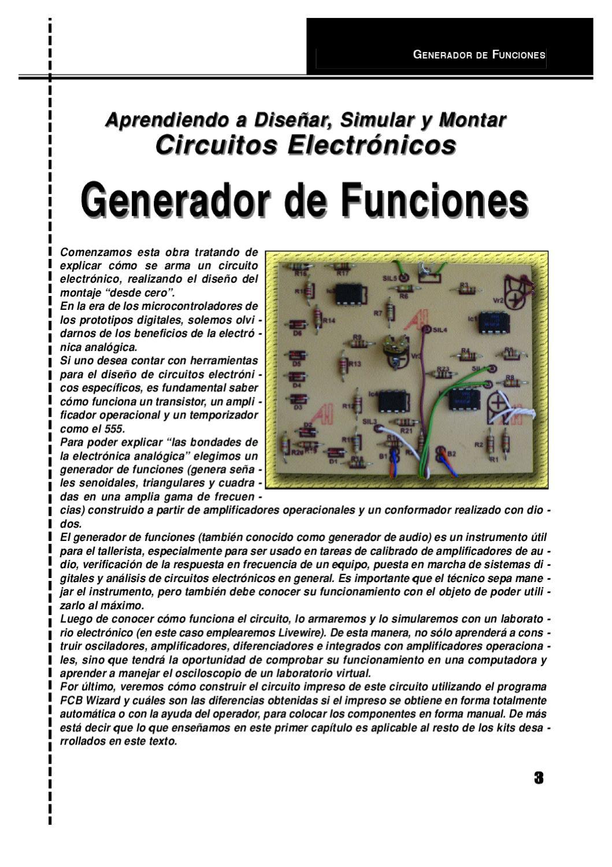 Circuito Generador De Funciones : Circuitos electronicos by marco trene tuyllo issuu