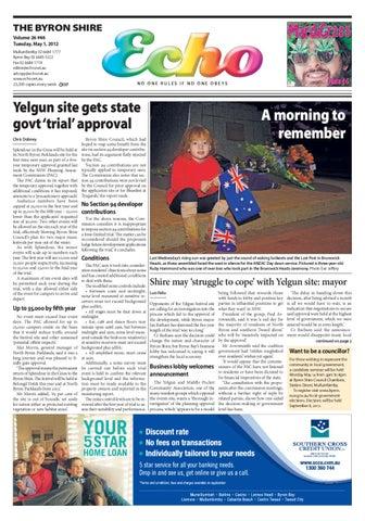 1a9f26b9b51d9 Byron Shire Echo – Issue 26.46 – 01 05 2012 by Echo Publications - issuu