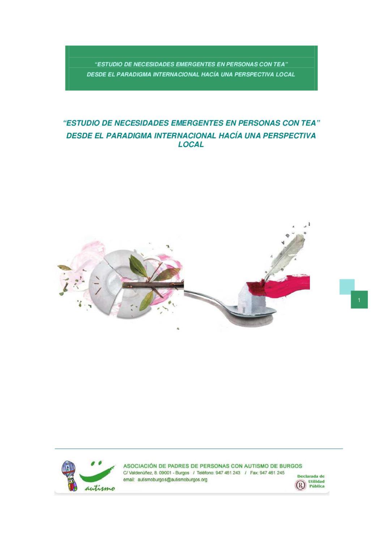 Estudio necesidades emergentes en autismo, 2010 by Programa APITEA ...