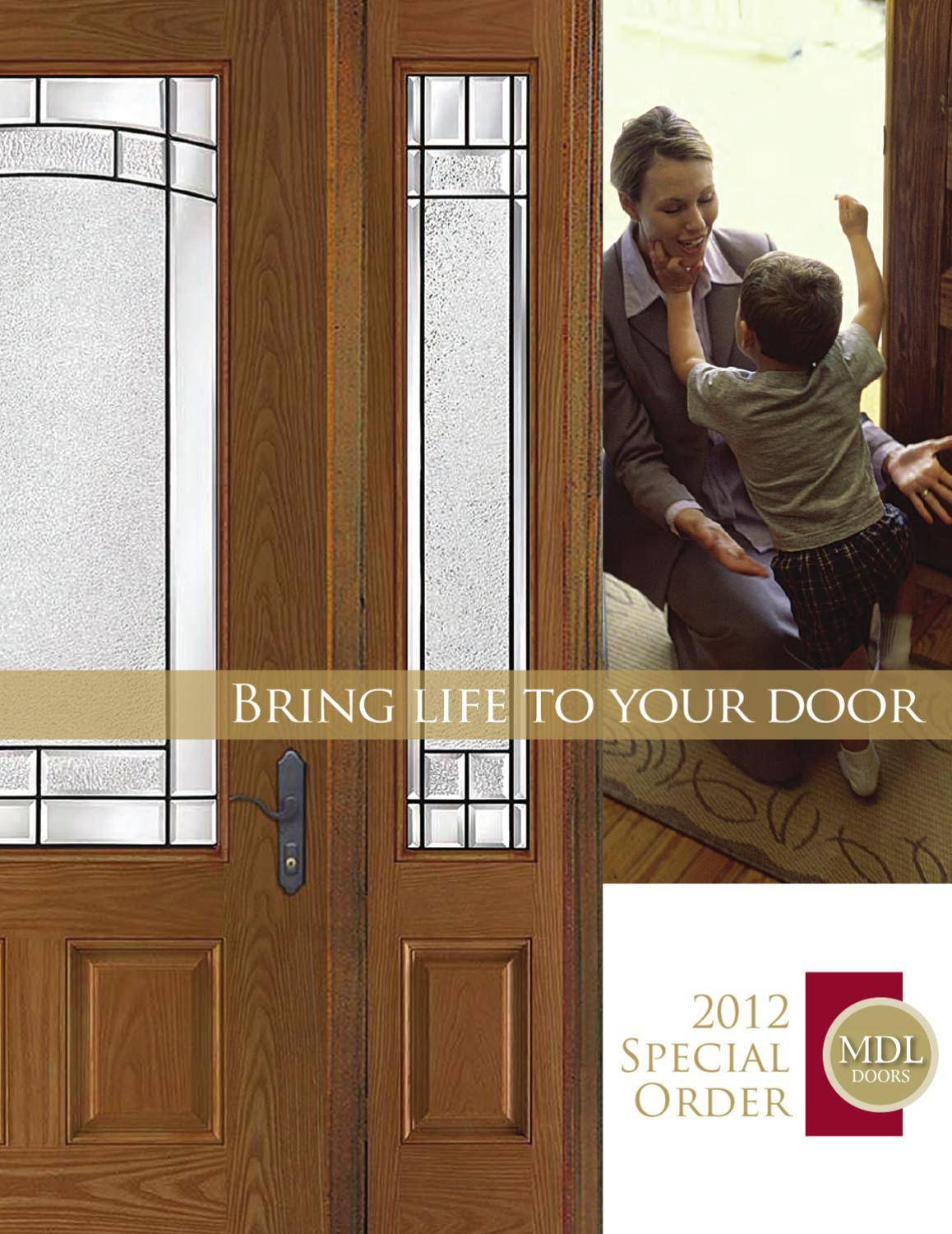 2012 special order by mdl doors issuu for Special order doors