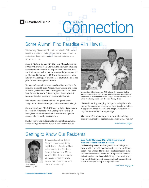 Cleveland Clinic Alumni Connection - Vol  XXVIX No  2 by