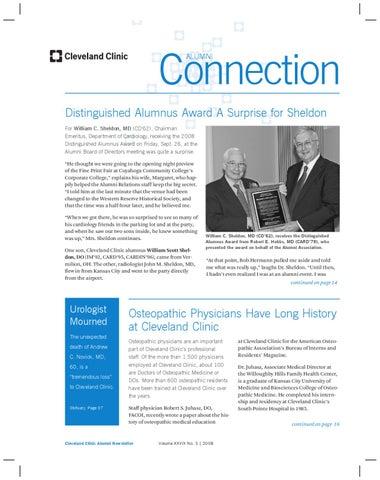 Cleveland Clinic Alumni Connection - Vol  XXVIX No  3 by