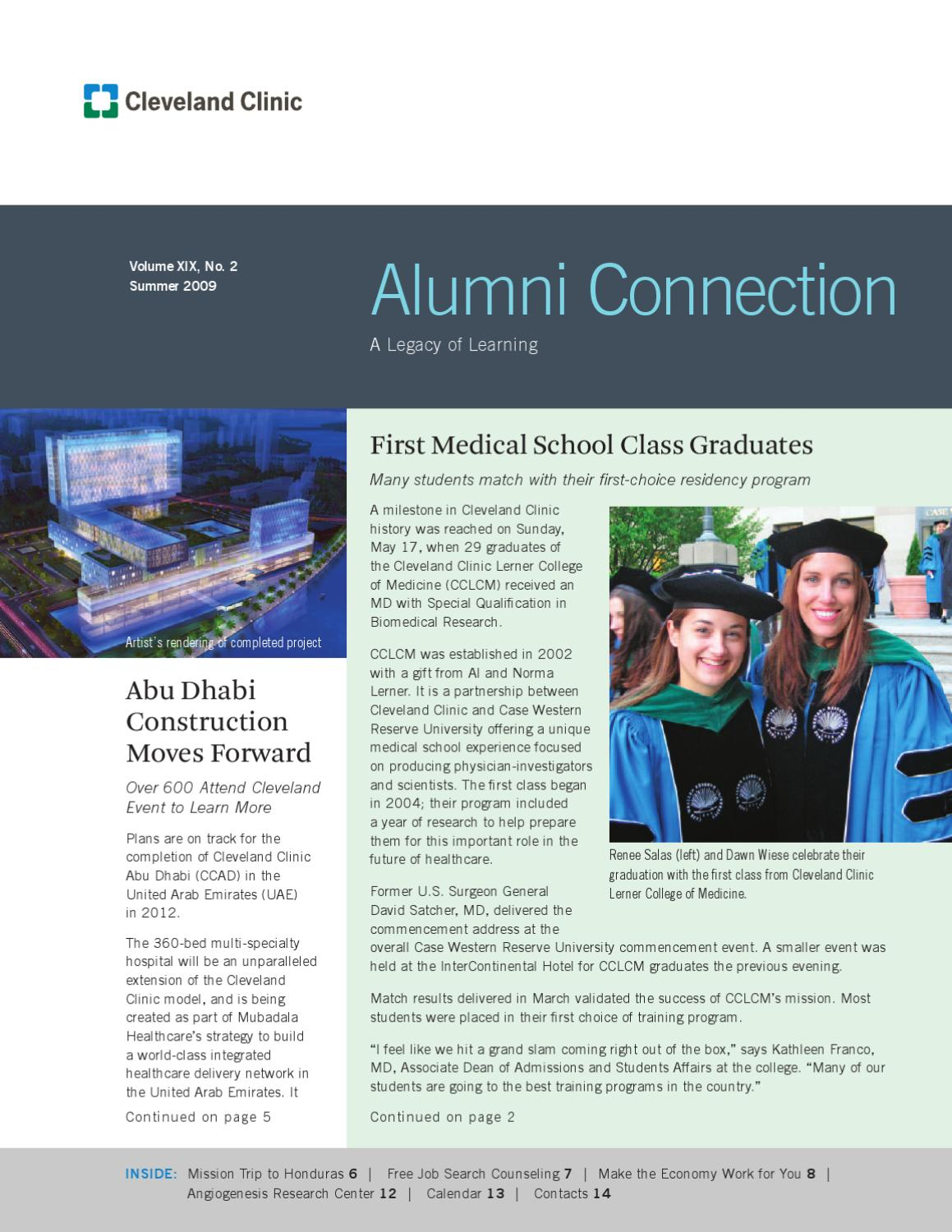 Cleveland Clinic Alumni Connection - Vol  XIX No  2 by