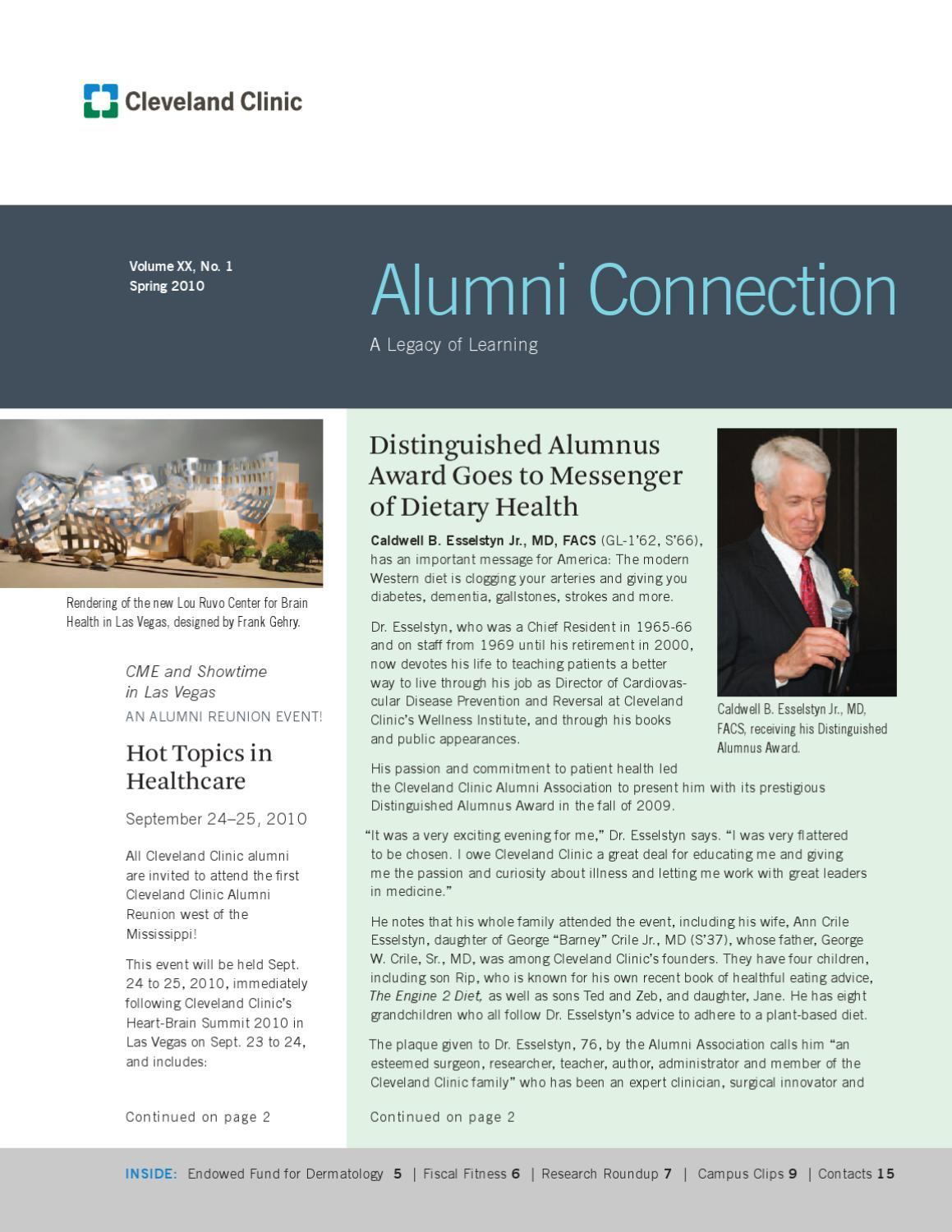 Cleveland Clinic Alumni Connection - Vol  XX No  1 by