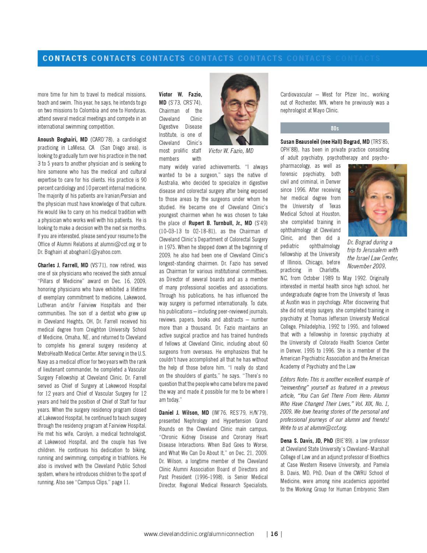 dedd94d261487 Cleveland Clinic Alumni Connection - Vol. XX No. 1 by Cleveland Clinic  Alumni Association - issuu