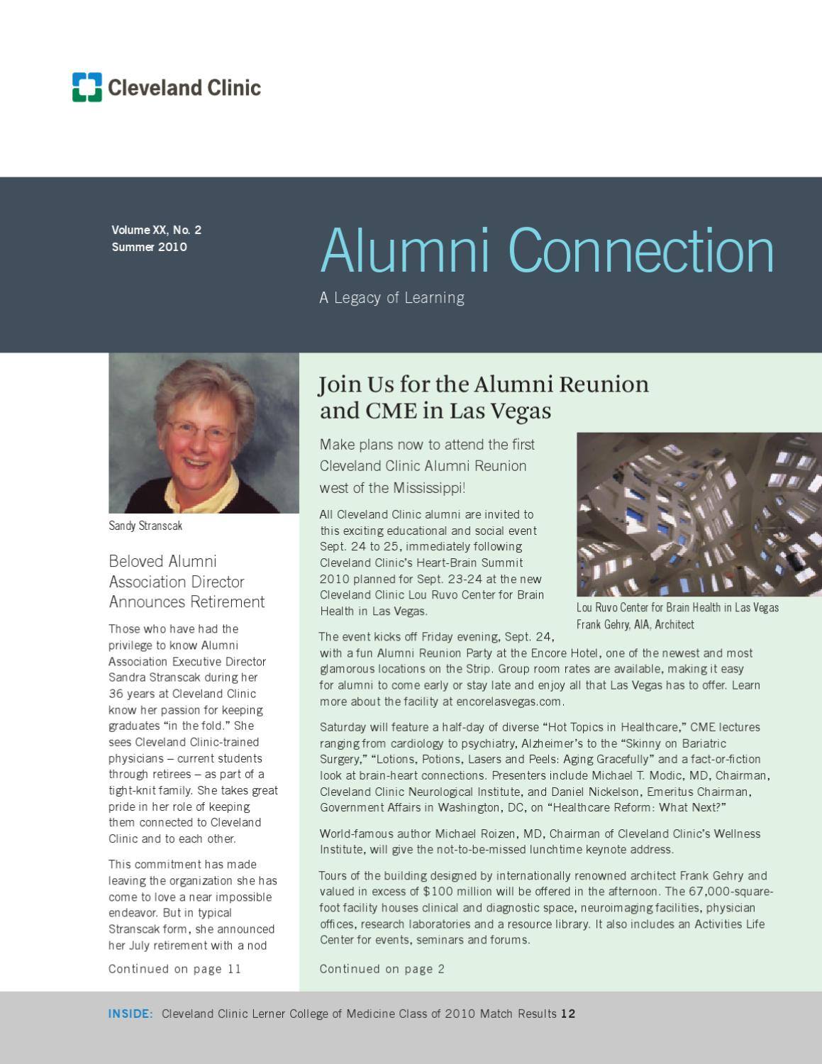 Cleveland Clinic Alumni Connection - Vol  XX No  2 by