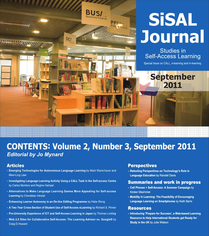Studies in Self-Access Learning Journal 2(3) by Studies in Self