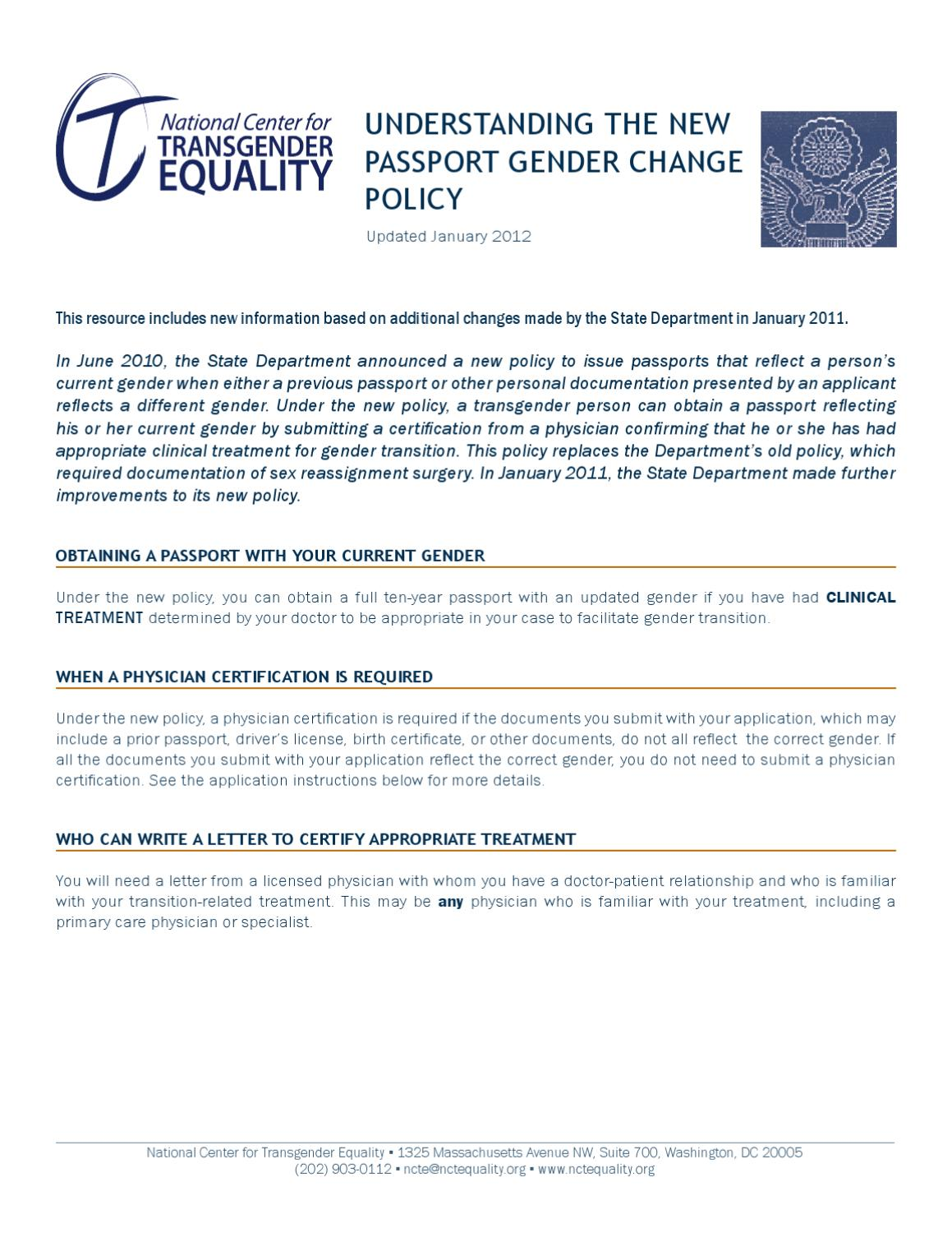 Understanding the new passport gender change policy by sage issuu 1betcityfo Image collections
